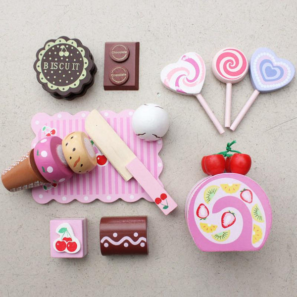 Wooden Sweeties set