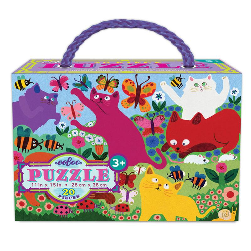 Eeboo 20PC Puzzle - Crazy Kittens