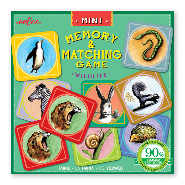 Eeboo Mini Matching Game - Wildlife