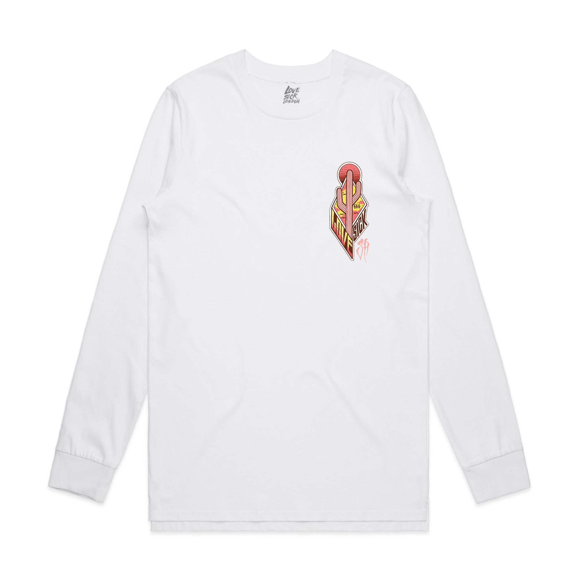 Wild West White long sleeve T-shirt