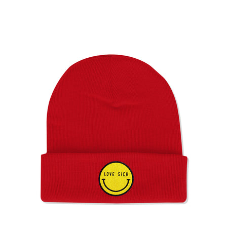 Love Sick Logo Red Beanie