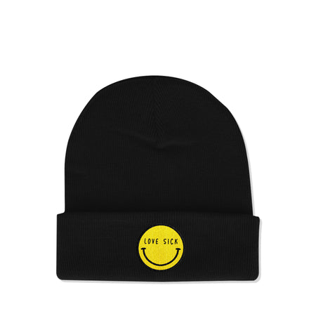 Smiley Black Beanie