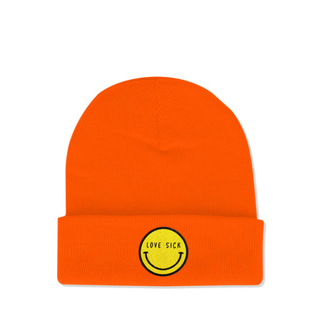 Love Sick logo Orange Beanie