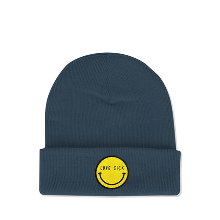 Smiley Petrol Blue Beanie