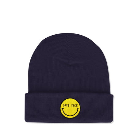 Smiley Navy Beanie