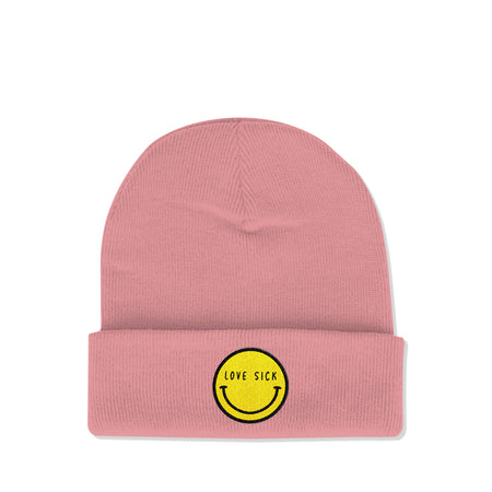 Smiley Dusty Pink Beanie