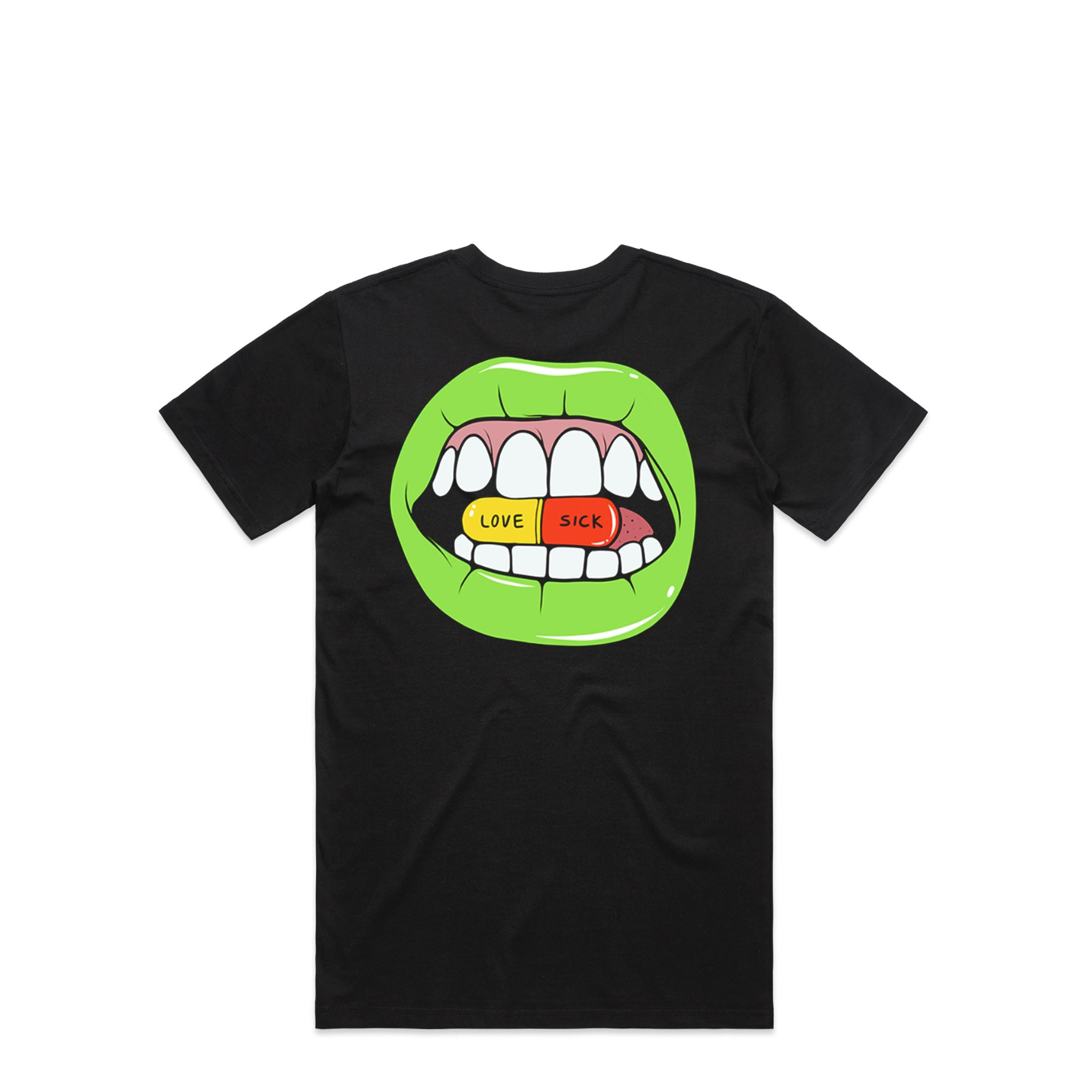 Lips Black T-Shirt