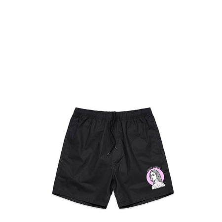Bubble Gum Black Swim Shorts