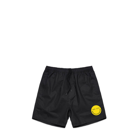 Smiley Black Swim Shorts