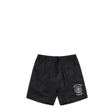 Punk Black Swim Shorts