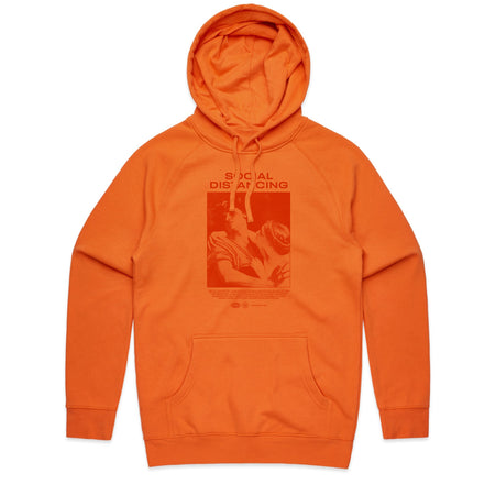 Social Distancing Orange Hoodie