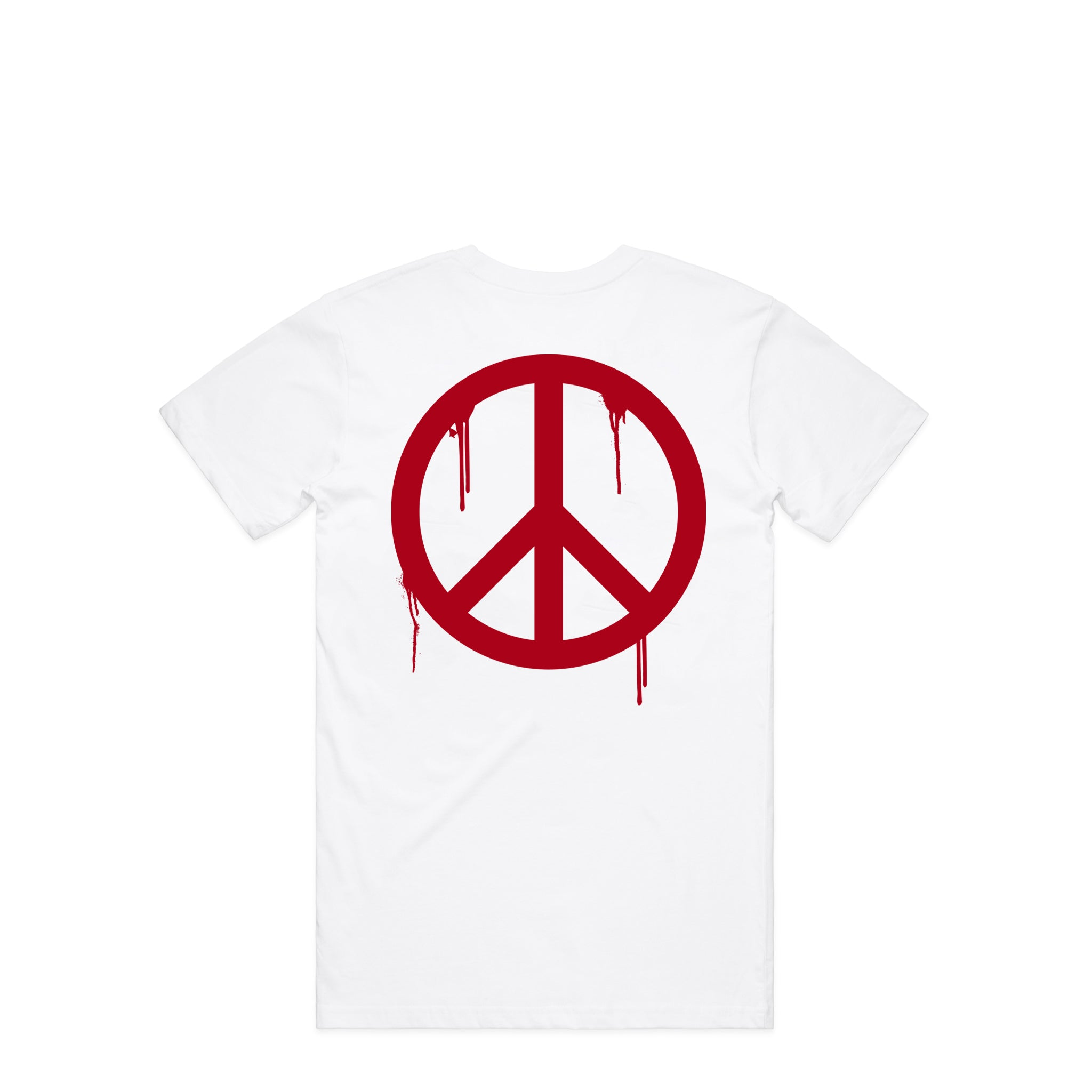 Peace & Love Sick White T-Shirt