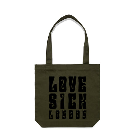 Love Sick London Khaki Tote Bag