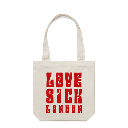 Love Sick London Cream Tote Bag