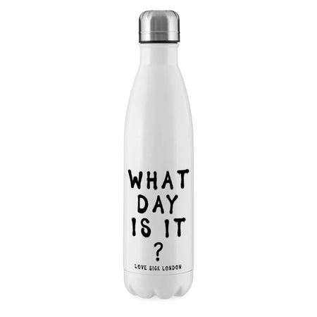 What Day Is It? Reusable Water Bottle