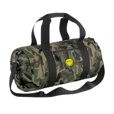 Smile Logo Camo Barrel Bag