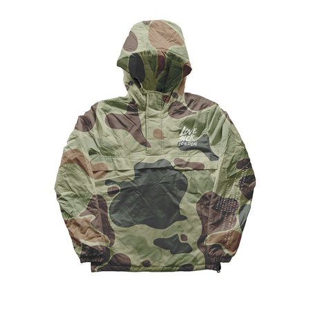LSL Camo. Water resistant pullover jacket