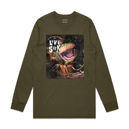 Feed me Green long sleeve T-shirt