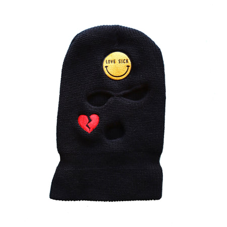 Love Sick Black Balaclava
