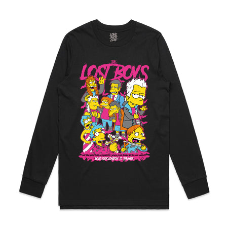 Simpsons x Lost boys Black long sleeve T-shirt