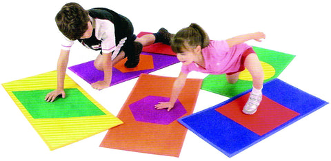 ActivColour Shaped Mats Set Of 6