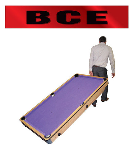 BCE Rolling Lay Flat Pool Table (CP-5AG)