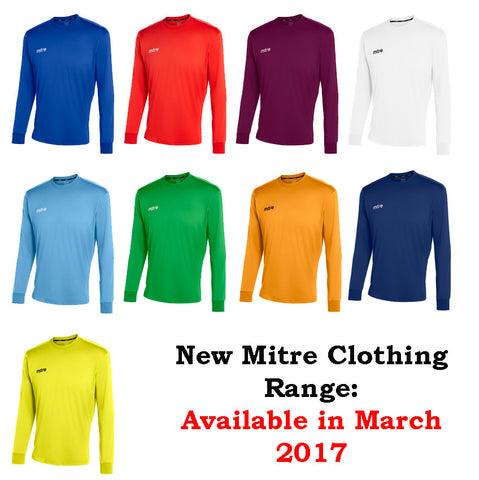 Mitre Camero Long Sleeve Football Jersey  (Adults)