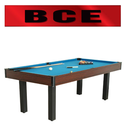 BCE 6' Rosewood Pool Table + Table Tennis + Desk Top (ISD1055)