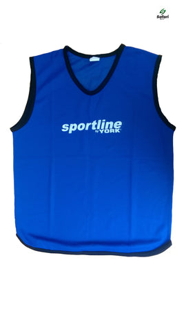 Pack of 5 Blue York Sportline Mesh Bibs
