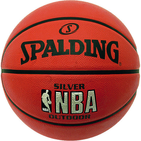 Spalding Silver NBA Outdoor Basketball