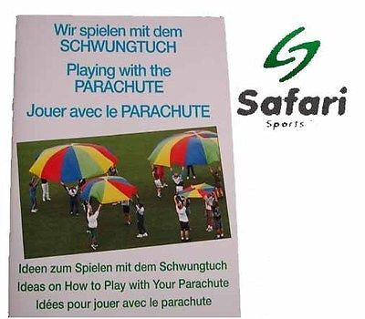 Safari Parachute Booklet - Play Game Children Learning Fun Team Activity Players