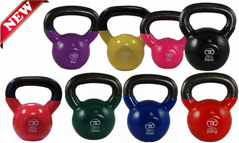Kettlebells With Vinyl Coated Base
