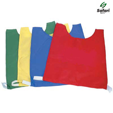 Medium Emerald Plain Nylon Training Bibs Pack of 8