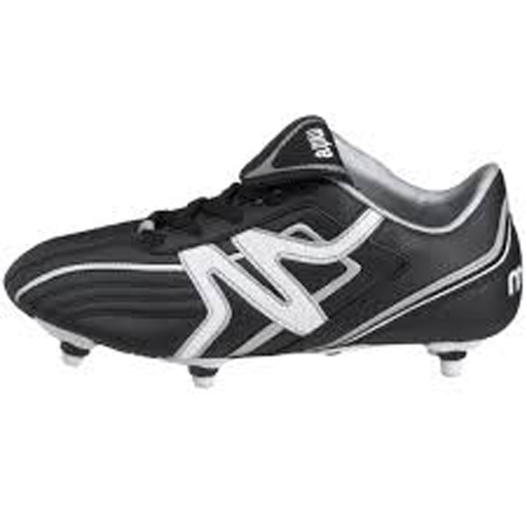 itre Fiero Black/White Lace Up Football Boots Children's Size 10