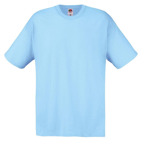 Fruit of the Loom Sky Blue T Shirt (Set of 4)