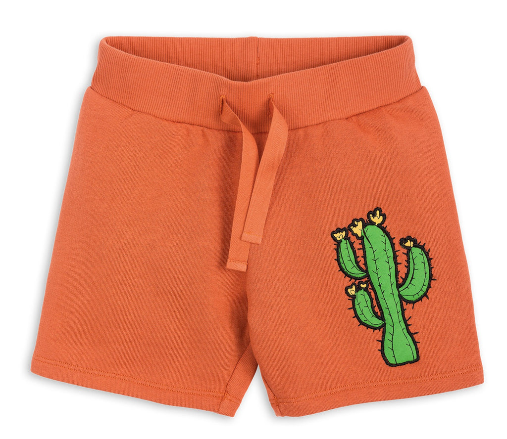 Mini Rodini Orange Donkey Cactus Sweatpant Shorts
