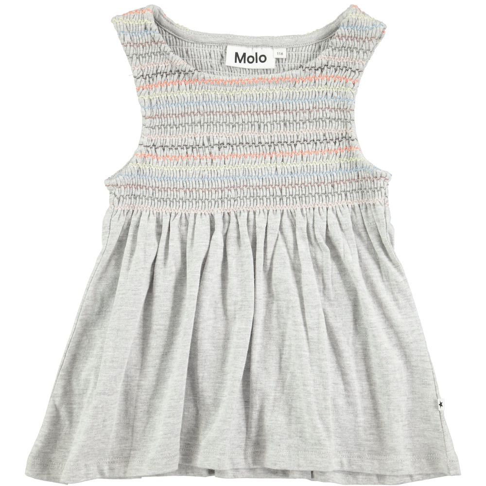 Molo Ragni Light Grey Melange Top