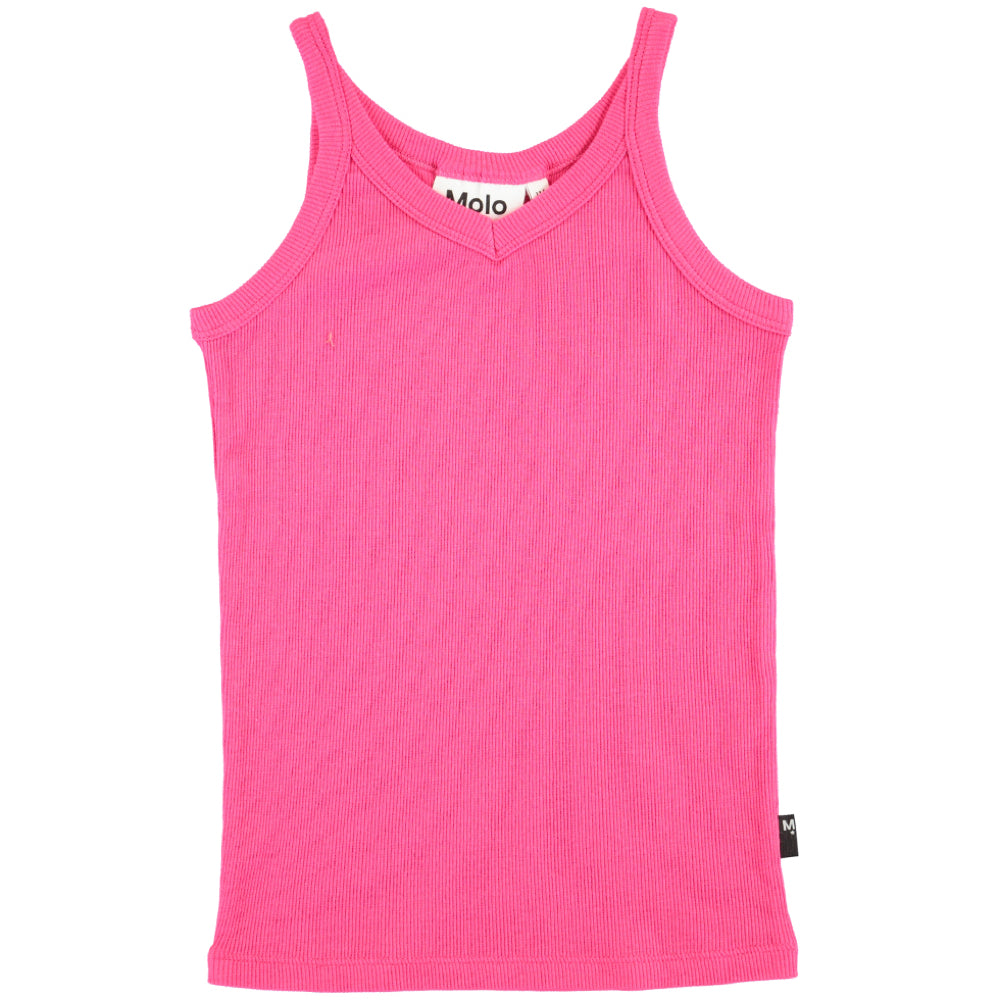 Molo Rida Dragon Fruit Pink Ribbed Vest Top