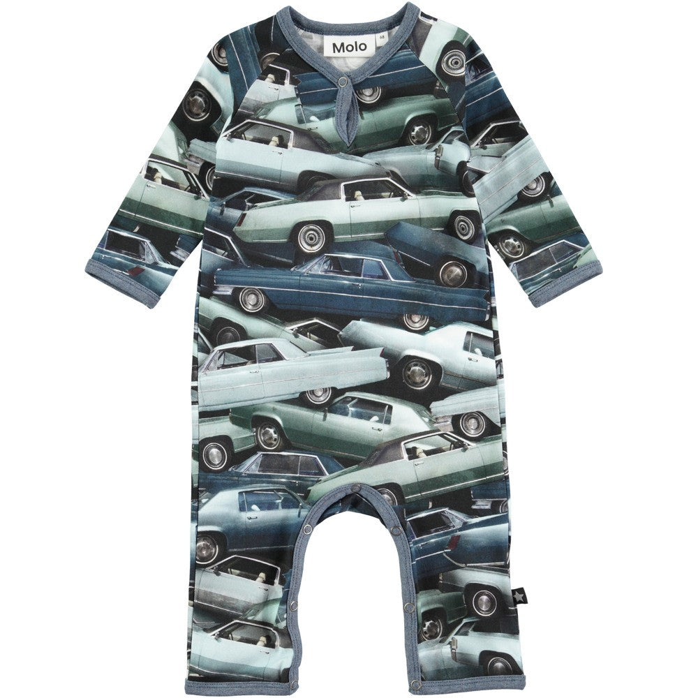 Molo Fleming Stacked Cars Sleepsuit