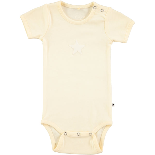 Molo Fossie Pearled Ivory Short Sleeved Bodysuit
