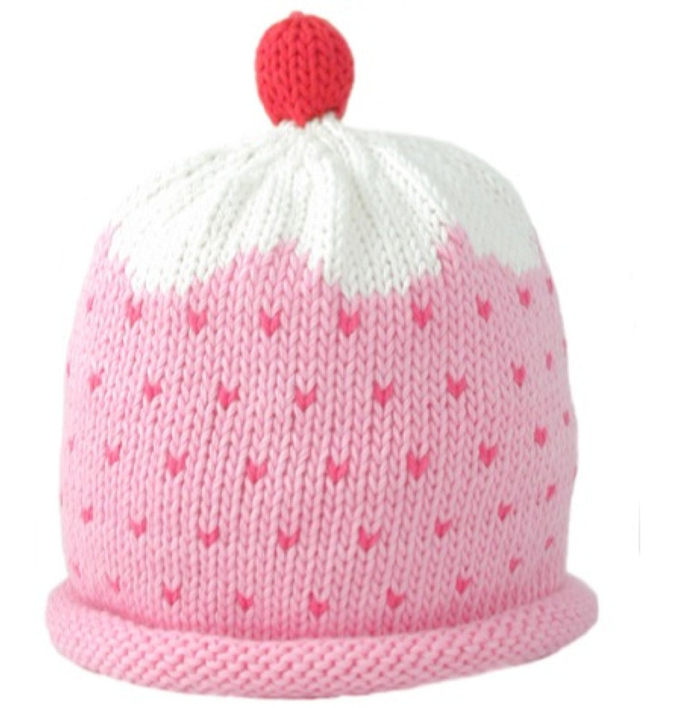 Merry Berries Pink Cupcake Hat