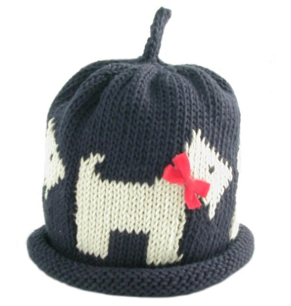 Merry Berries Navy Scottie Dog Hat