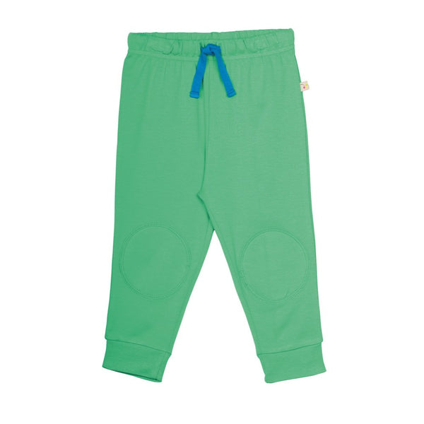 Frugi Pea Green Knee Patch Baby Trousers