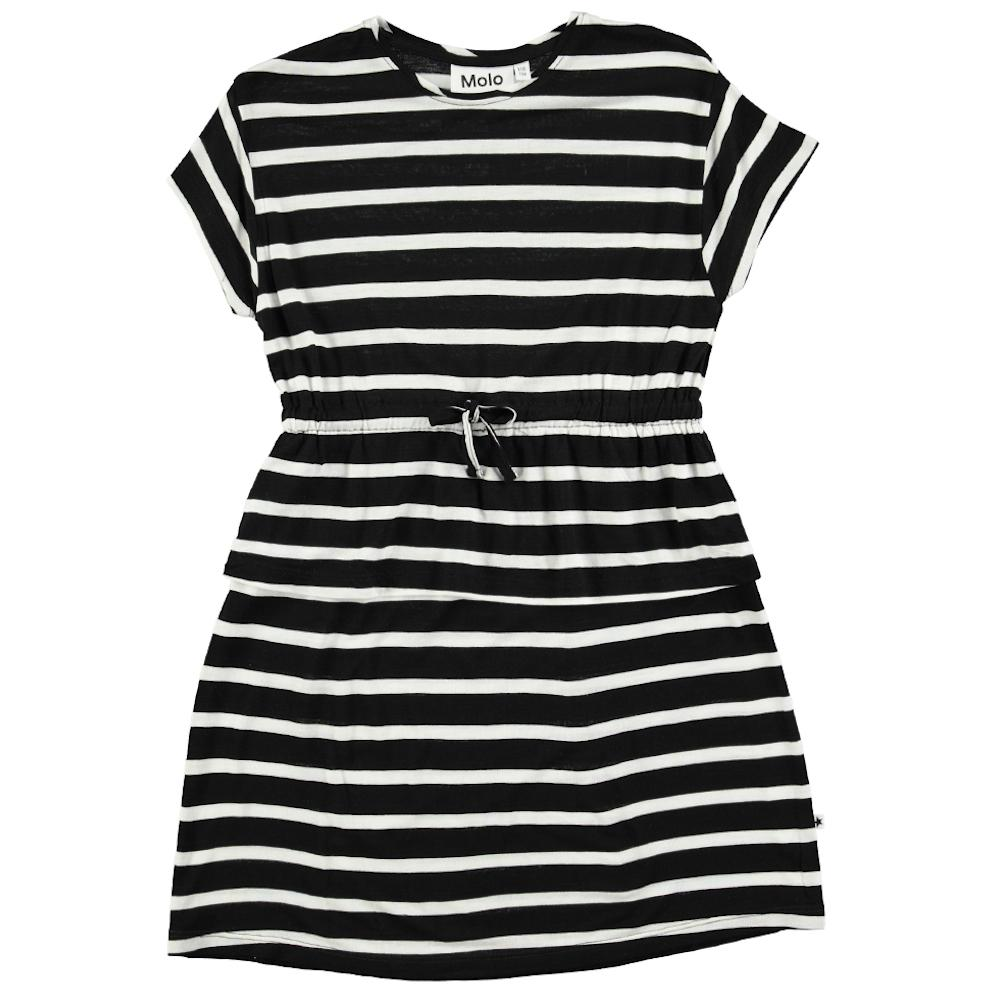 Molo Camma Black and White Stripe Dress