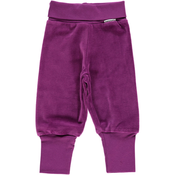 Maxomorra Purple Velour Trousers