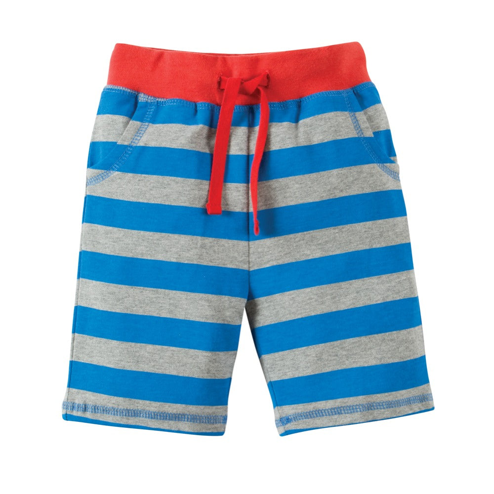 Frugi Little Blue Bold Stripe Shorts