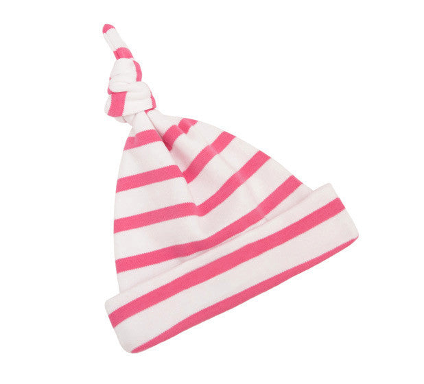 Bob and Blossom Coral Pink and White Breton Striped Hat