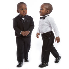 Boys Black 5 Piece Special Occasion Tuxedo Suit - Salon3o, Kooperativa GO-RE z.b.o., Tupaliče 15, 4205 Preddvor,Slovenia,Europe.All rights reserved.