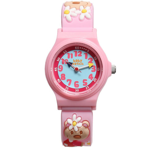 "Girls Pink Teddy ""My First Watch"" (19cm)"