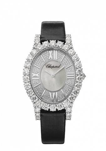 L'HEURE DU DIAMANT OVAL MEDIUM 18-CARAT WHITE GOLD AND DIAMONDS